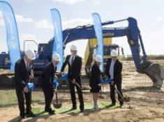 A Thyssen Krupp AG új üzemének alapkőletétele Jászfényszarun