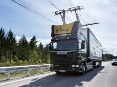Electric road hybrid truck