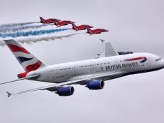 A380_&_Red_Arrows_-_RIAT_2013