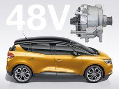 Der weltweit erste 48-Volt Hybrid Antrieb von Continental im Serieneinsatz bei Renault / Scenic Hybrid Assist. CO2- Zielwert mit dieser Technologie: 92 Gramm pro Kilometer