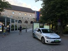 Ljubljana, Szlovénia, elektromos autó