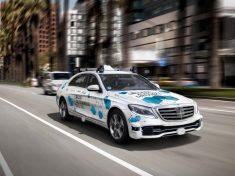 Mercedes, vezető nélkül, Kalifornia, Bosch, Daimler,