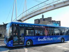 légszennyezés, brit, busz,