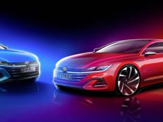 Volkswagen Arteon Shooting Brake (left) and VW Arteon 2020