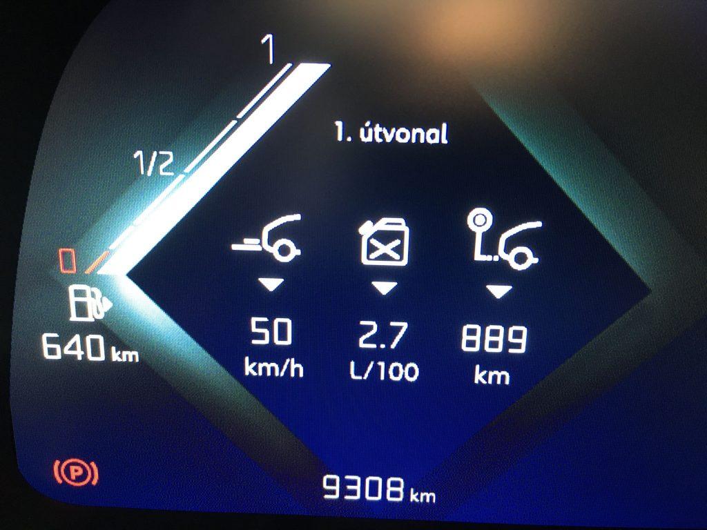 Teljes átlag (csak a benzinfogyasztás)